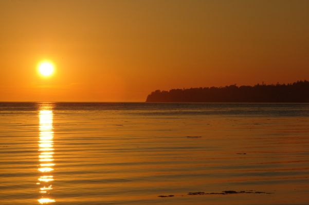 Beautiful sunset in Birch Bay